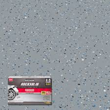 Rustoleum Garage Floor Coating Kit Instructions by Rust Oleum Rocksolid 152 Oz Gray Polycuramine 2 5 Car Garage