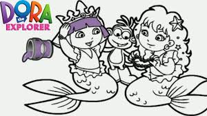 Download Coloring Pages Dora Games The Explorer Mermaid Princess Nick Jr
