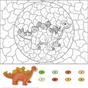 Dinosaurs Color By Number 13