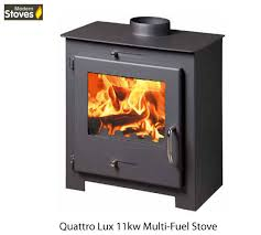 modern multi fuel stoves quattro 11kw wood burning multi fuel wood burner modern stoves ebay