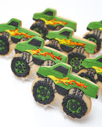 100 Monster Truck Cookies Good Texture On Tires And Shape Of Truck Birthday