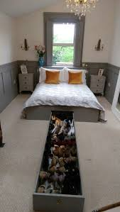 Mdf king size bed frame with 6ft shoe drawer made by me