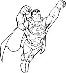 Superman Flying Coloring Page One Of The Greatest Superheroes Also Known As Clark Kent