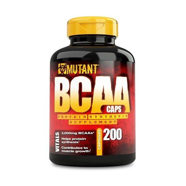Mutant BCAA Caps Protein Supplement - 200 Count
