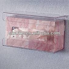China Clear Acrylic Tissue Box HolderHandy Wall Mounted Holder