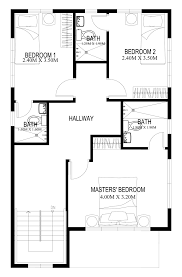 Second Floor House Design by Two Story House Plans Series Php 2014004