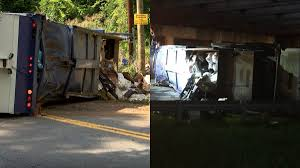 100 Used Dump Trucks For Sale In Nc Garbage Truck Overturns Twice In Same Day Shuts Down