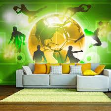 fototapete selbstklebend fuß 294x210 cm tapete wandtapete wandbilder klebefolie dekofolie tapetenfolie wand dekoration wohnzimmer sport fussball