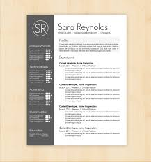 Design Resume Template Sara Reynolds Free Regarding 2 Column Word