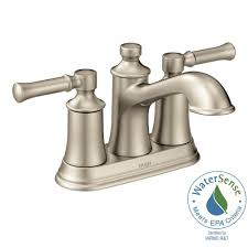 Moen Banbury Bathroom Faucet Brushed Nickel by Moen Hensley 4 In Centerset 2 Handle Bathroom Faucet Featuring