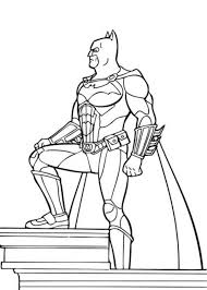 Batman Superheroes Coloring Page