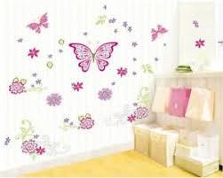 details zu wandtattoo schlafzimmer schmetterlinge pink kinderzimmer schrank 150 x 77 w129