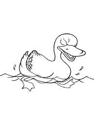 Click To See Printable Version Of Swimming Duck Coloring Page