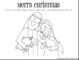 Great Printable Christmas Coloring Pages Nativity With Scene And