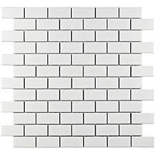 white ceramic subway tile box of 12 sq ft decorative tiles