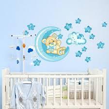 sticker chambre bébé stickers chambre bébé ourson pour un sommeil épanoui