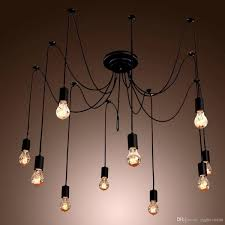 chandeliers design awesome led edison bulb chandelier vintage