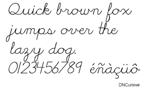 Block Letters and Cursive Handwriting font for DNealian worksheets