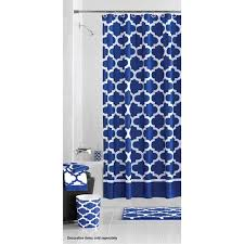 mainstays fretwork shower curtain navy white walmart com
