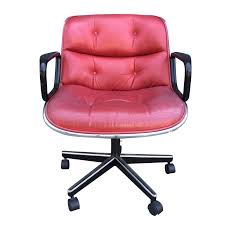 Knoll Pollock Chair Vintage by Leather Office Chair By Charles Pollock For Knoll Chairish