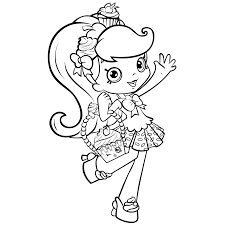 Cute Shopkins Dolls Coloring Page Printable