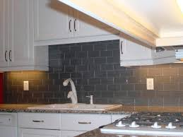 Peel And Stick Faux Glass Tile Backsplash by Tiles Backsplash Smoke Gray Glass Subway Tile Backsplash In
