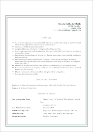 Testing Resume Samples Software Tester Sample For 2 Years Experience