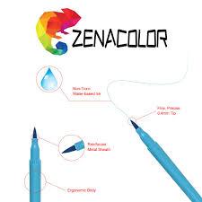 Rotuladores De 30 Colores Puntas Dobles Plumas De Acuarela Con Resaltadores De 2 Mm Pinceles Y Puntas Finas De 04 Mm Para Dibujar Dibujar
