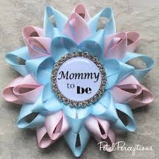 Mommy To Be Pin Pale Pink Light Blue Gender Reveal