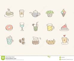 Download Coffee Lover Icon Set Stock Illustration Of Drink