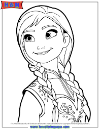 Portrait Of Anna Coloring Page