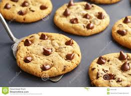 Chocolate Chip Cookies Fresh From The Oven Stock Image Image Of