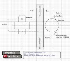 Richelieu Cabinet Hardware Template by Door Template U0026 Burris Blank 2up Door Hanger Template For