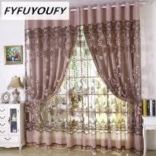 european floral tüll vorhänge für wohnzimmer gardinen für luxus fenster vorhänge schlafzimmer können benutzerdefinierte hochzeitsdekoration