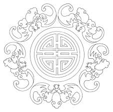Asian Embroidery Coloring Pages