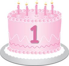 Free Birthday Cake Clip Art Image clip art illustration of a pink birthday cake with