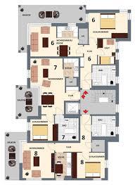 grundrisse der wohnungen 6 bis 8 in der werbellinstraße 2 in