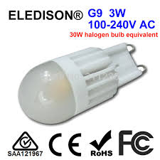 g9 led light bulb 3w dimmable 110v 120v 220v 230v 240v pendent