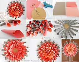 Double Color Papers Are Turned Into Simple Cone Shape And Pasted In The Round Cardboard Paper Which Gave A Beautiful Art