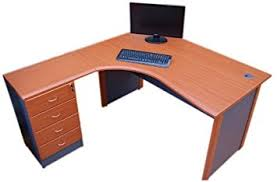 bureau informatique angle jdk concept bureau d angle pour ordinateur couleur merisier amazon