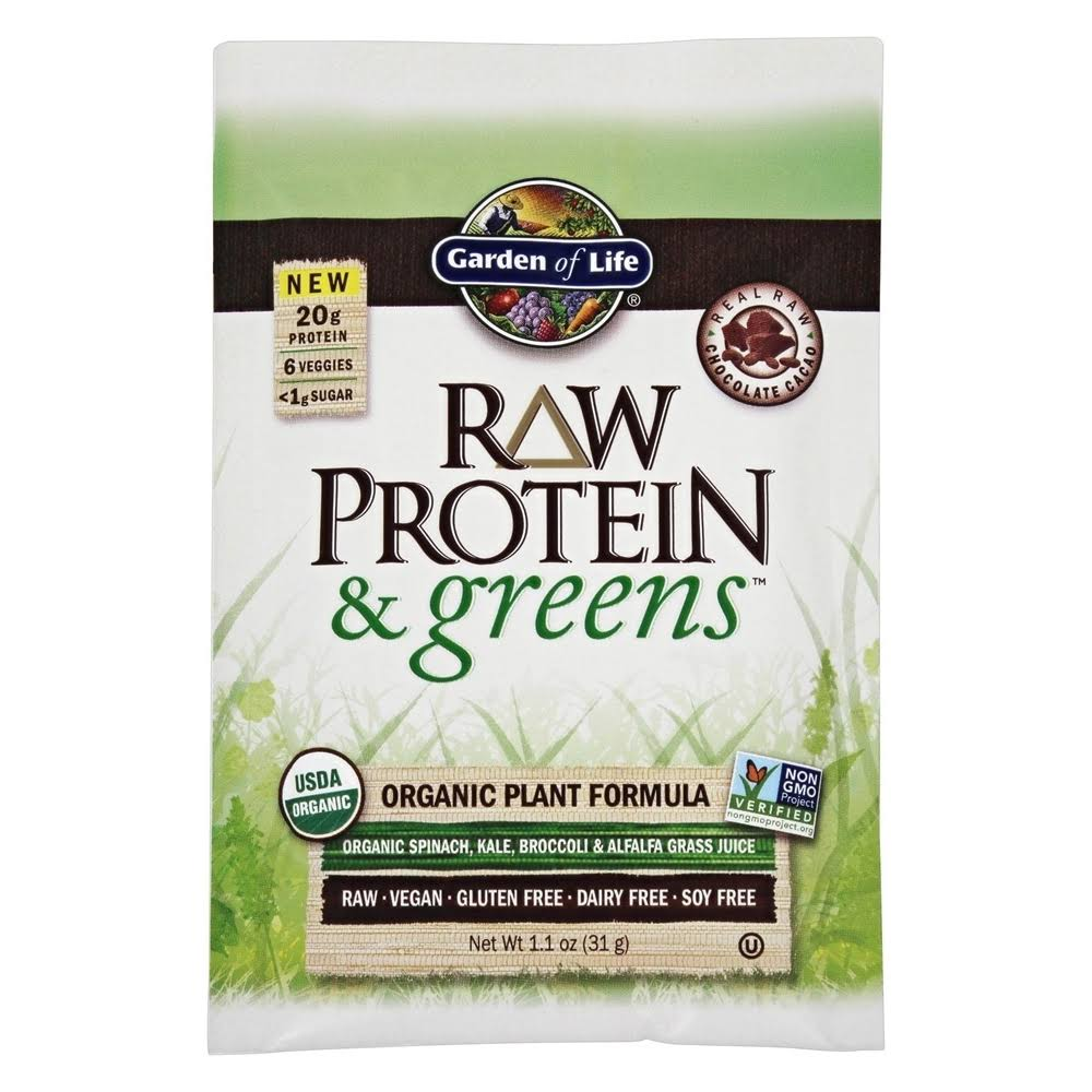 Garden of Life Raw Protein and Greens Powder - 1.1 oz packet