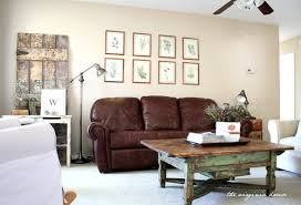 Brown Couch Living Room Decorating Ideas by Fresh Living Room Decorating Ideas With Brown Leather Furniture