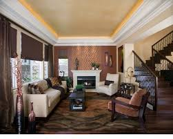 light brown paint living room contemporary with tray ceiling brown