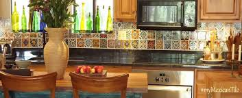 kitchen backsplash painted ceramic tile mexican decorative