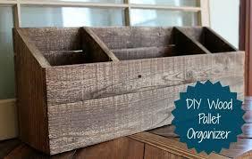 DIY Wood Desk Organizer Mail Sorter