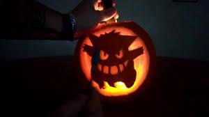 Pokemon Pumpkin Carving Templates by Halloween Pokemon Gengar Pumpkin Carving Youtube