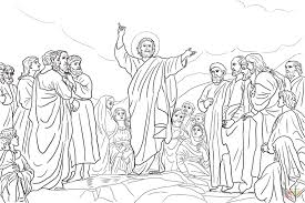 Click The Jesus Teaches Beatitudes Coloring Pages To View Printable Version Or Color It Online Compatible With IPad And Android Tablets