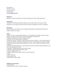 Sample Resume For Apartment Maintenance Supervisor Inspirationa Inspirational
