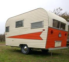 Orange 1967 Roadrunner Vintage Camper Tiny Trailer Caravan Small Rv Trailers For Rent Campers