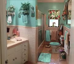 royal blue bathroom decor dark brown varnished wall mounted wooden